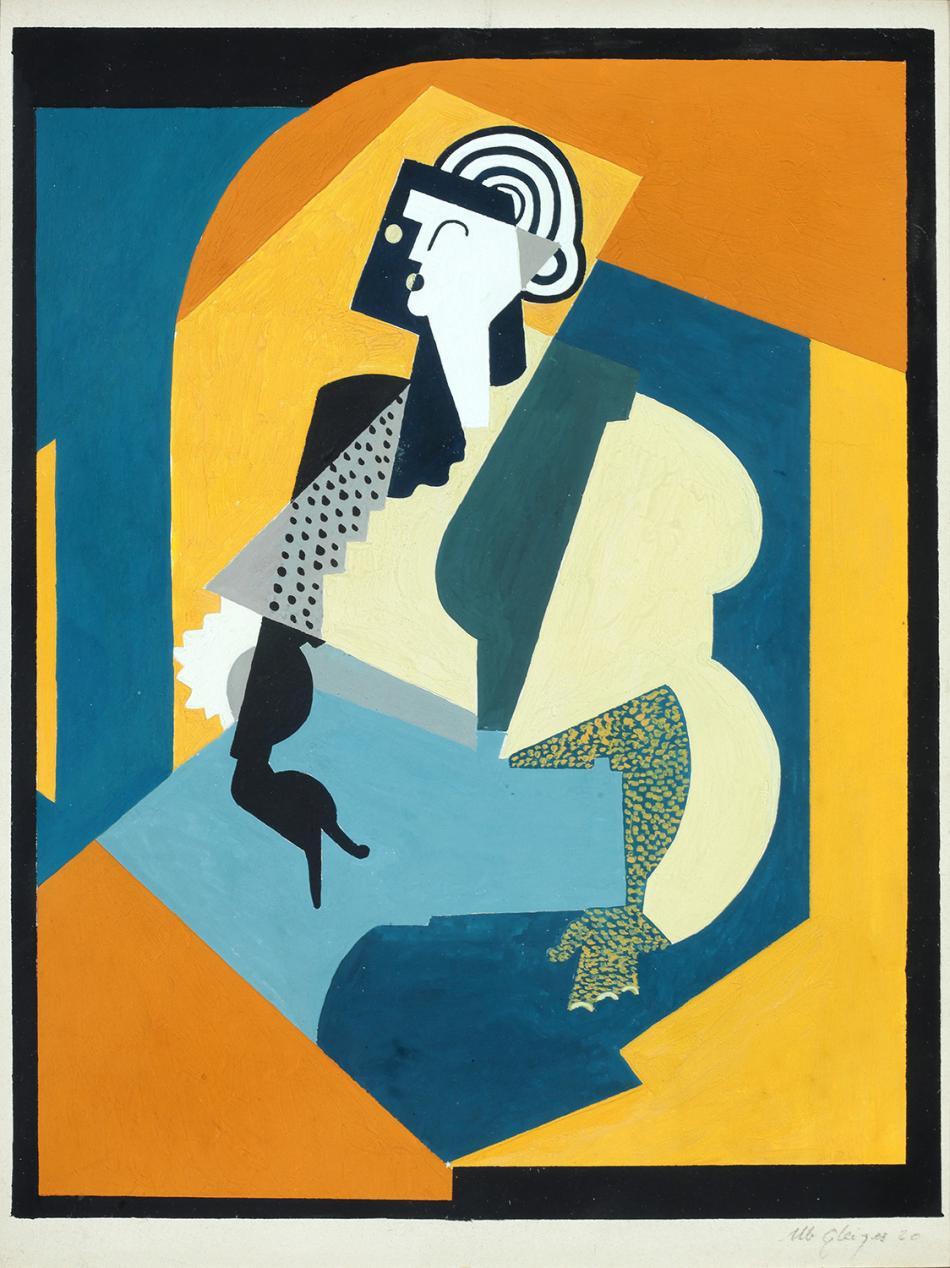 Albert Gleizes,Femme au gant noir,1920