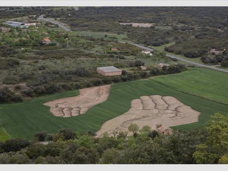 Nutrir la Estima: la obra de land-art de Jorge Rodríguez-Gerada en los campos de Huesca.