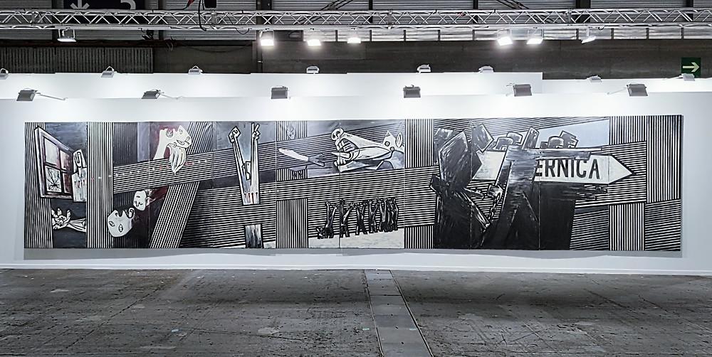 Agustín Ibarrola, Guernica, 1977