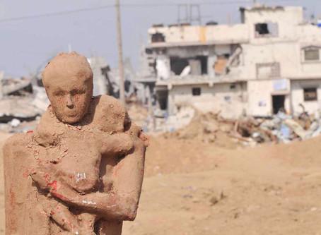 El escultor Iyad Sabbah talla el dolor de los palestinos en Gaza