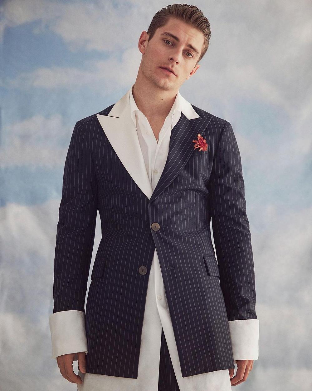 Jakub como modelo para Esquire Magazine España (Cortesía)