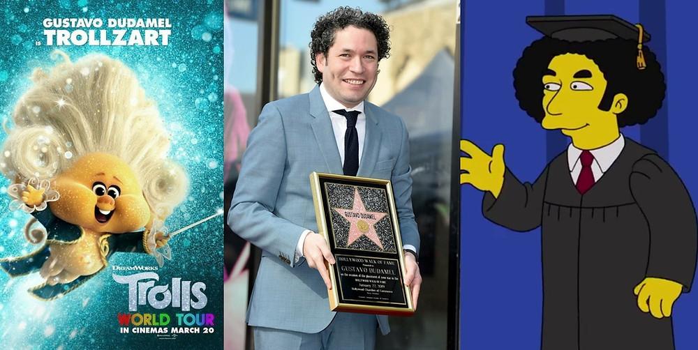 Dudamel en Hollywood: Trollz, Estrella en el Paseo de la Fama y Los Simpsons.