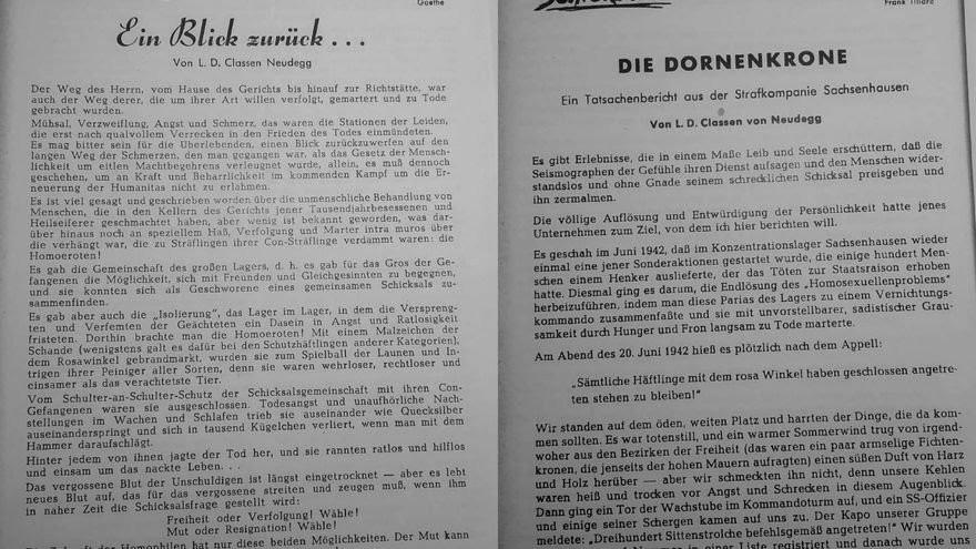 Articulos de Leo Classen publicados en la revista Humanitas entre 1954 y 1955