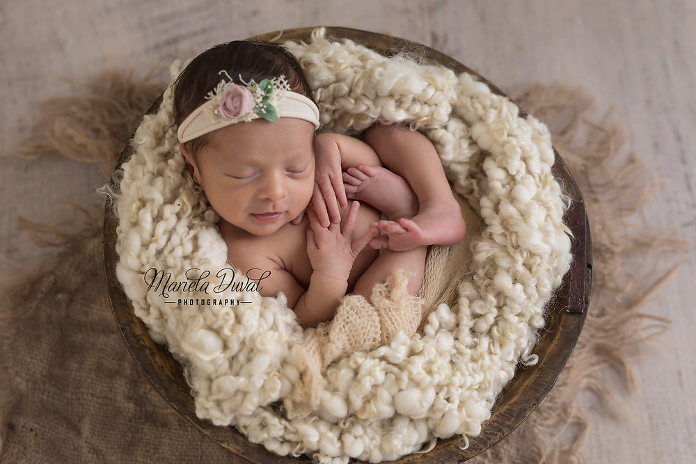Sweet baby girl Ellie- Newborn Photographer Atlanta - One of my favorite images from the session- loved how you can see her #tinyfingers and #tinytoes