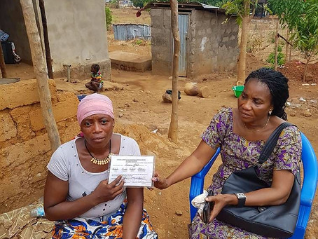 A new house with tears of joy for Gbassay, the widow