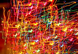Multicolor Laser Light Art