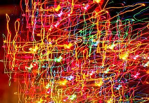 Çok renkli Lazer Işığı Sanat