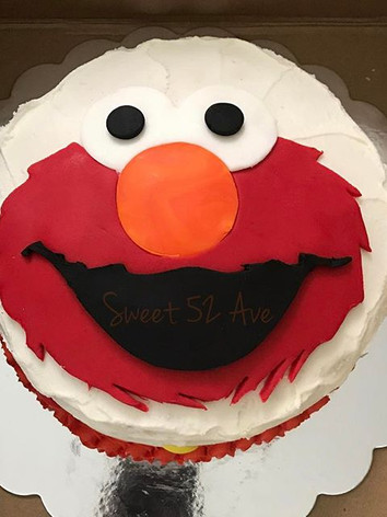 Elmo cake for the birthday boy Calvin!!!
