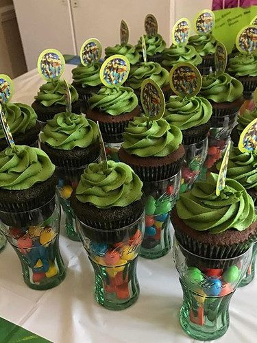 Teenage Mutant Ninja Turtle Themed cupca