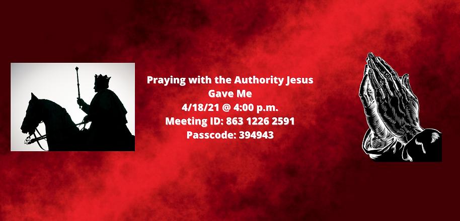 website Zoom Praying with Authority Jesu