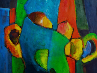 A New Painting to introduce a new Series (La Visage)