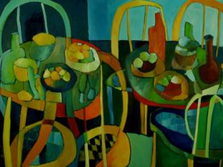 """""""Banquet dans la Nuit"""" selected to an Artshow in my Hometown"""