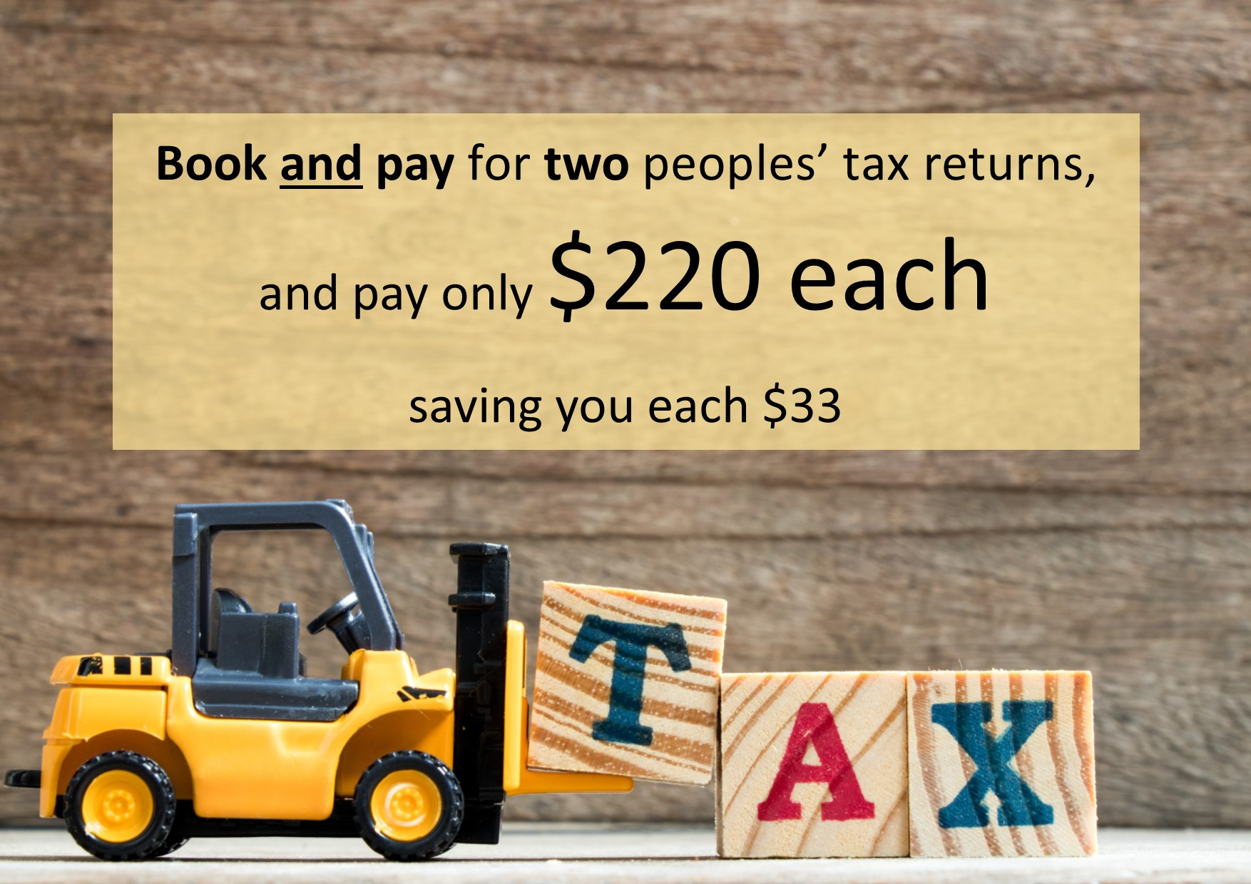 2 x Package Deal Income Tax Returns