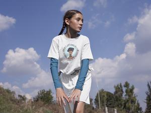 Girl Wearing Betula Virgo Tshirt