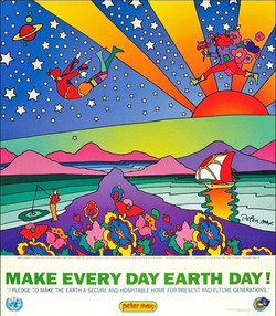Peter Max Every Day Earth Day