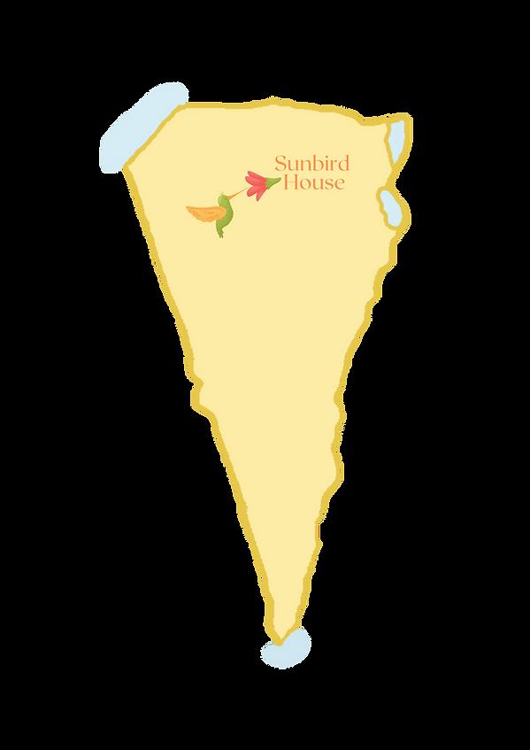 Draw Map of Negev Desert and Sunbird House