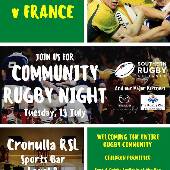 Community Rugby Night - Wallabies v France