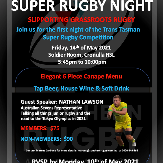 Networking Event - Join us for a night of Super Rugby