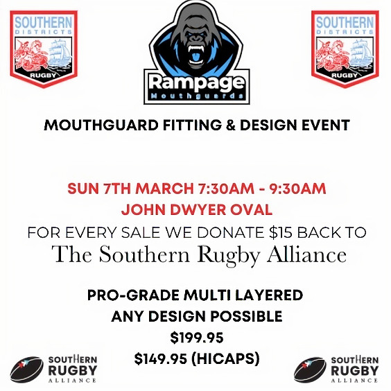 Rampage Mouthguards Design & Fitting Event