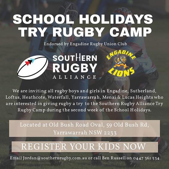 School Holidays Try Rugby Camp - U10s to U13s