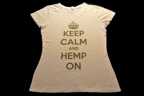 Keep Calm & Hemp On- White - Men's & Women's Tee Shirts