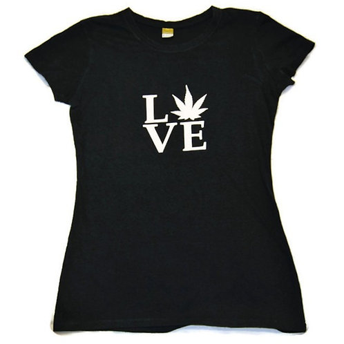 Hemp Love Women's Fitted Tee Shirt