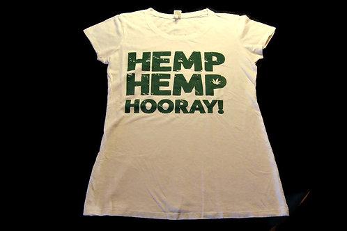Hemp Hemp Hooray! - White - Men's & Women's Tee Shirts