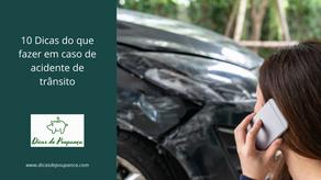 10 Dicas do que fazer em caso de acidente de trânsito