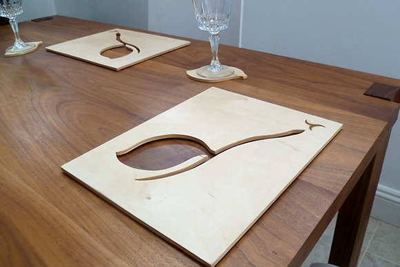 Leaf Placemat and Coaster Set