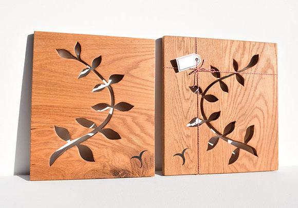 Decorative Oak Leaf Stem Panel
