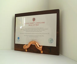 RBL supported Certificate display stand