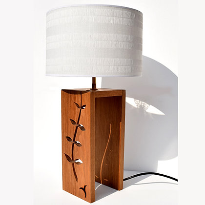 Handcrafted Leaf Wrap Oak Lamp