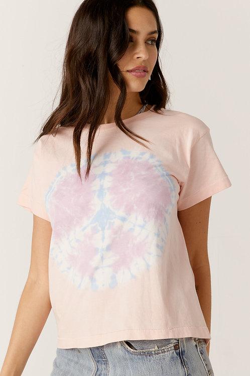 Daydreamer | Coral Peace Tie Dye Girlfriend Tee
