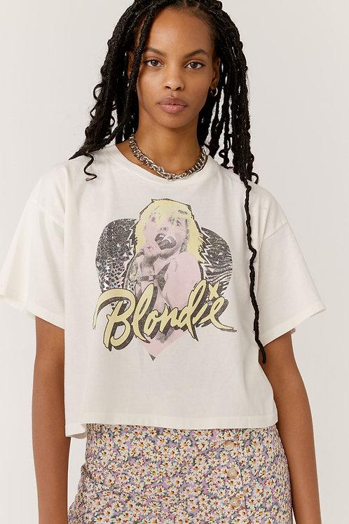 Daydreamer   Blondie Animal Heart Boxy Crop Tee