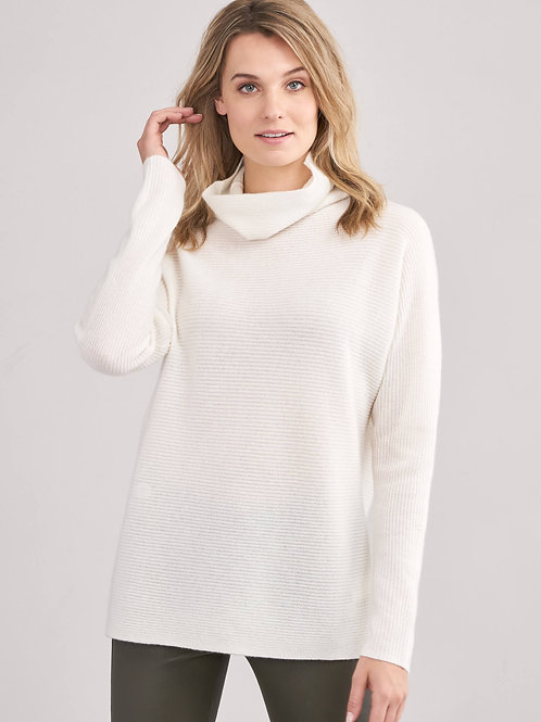 Repeat Cashmere | Cashmere Rib Cowl Neck Sweater