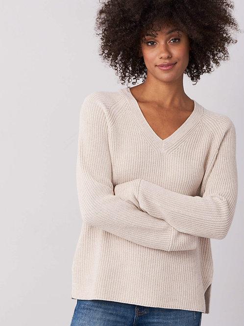 Repeat Cashmere   Cotton V Neck Sweater