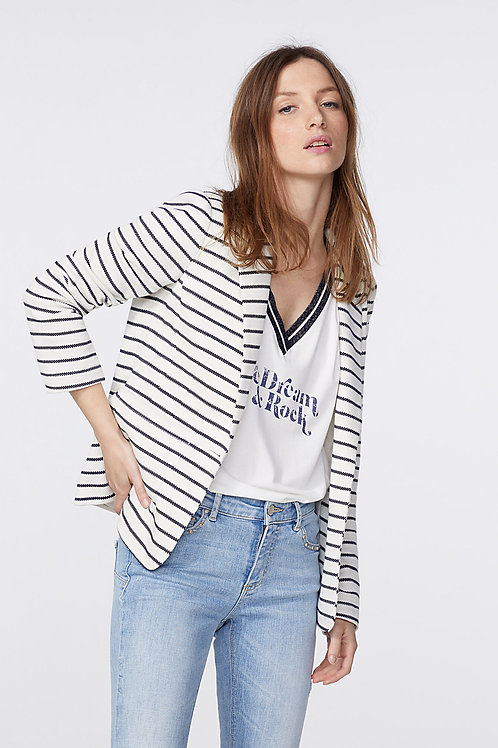 IKKS | Stripe Blazer
