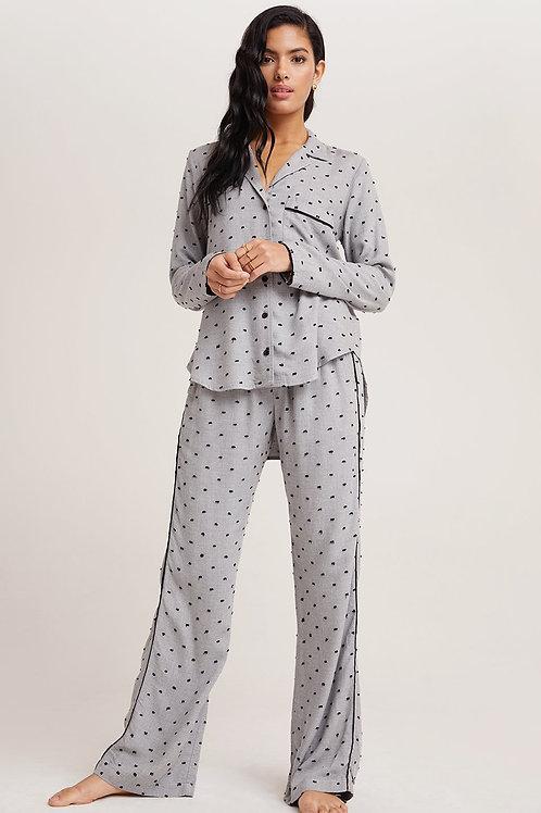 Bella Dahl | Sleep Shirt & Wide Leg Pant Set