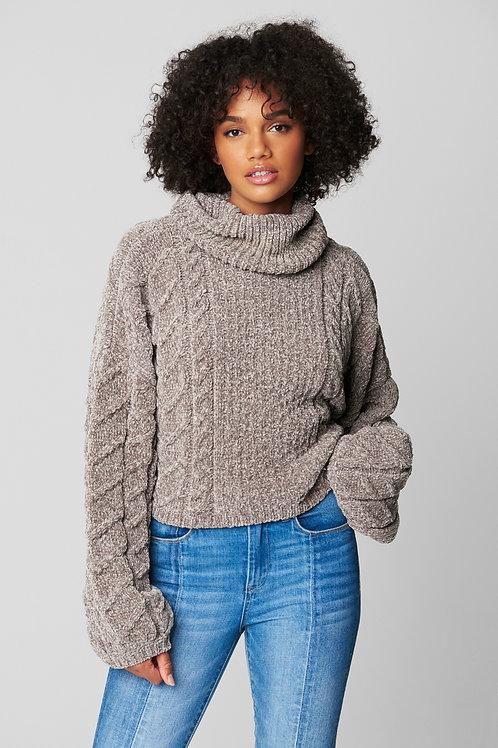Blank NYC   Chenille Turtleneck Sweater