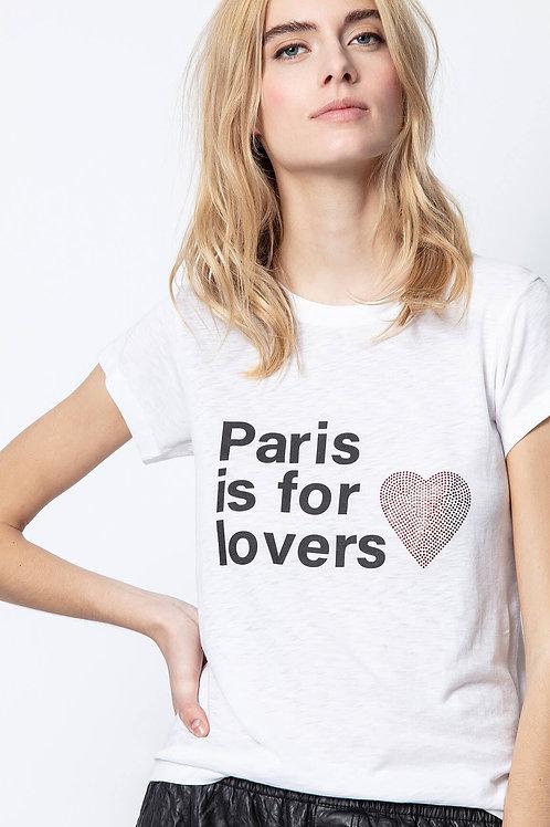 Zadig & Voltaire   Skinny Paris Lovers Tee