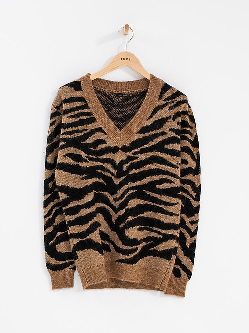IKKS | Tiger V Neck Sweater