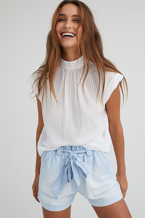 Bella Dahl | Cap Sleeve Button Back Blouse