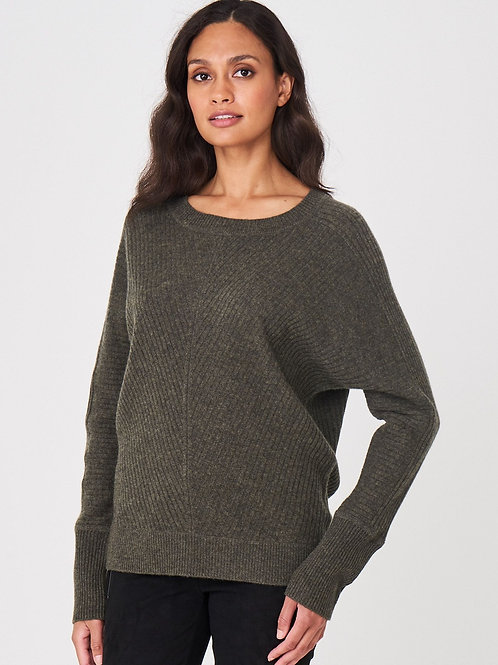 Repeat Cashmere | Rib Knit Batwing Sweater