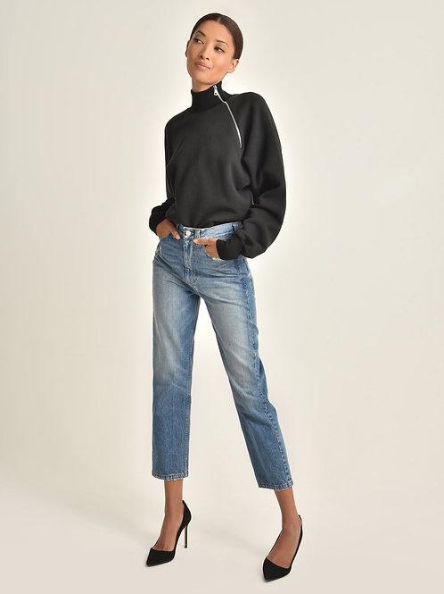 Marissa Webb | So Uptight Funnel Neck Zip Sweatshirt