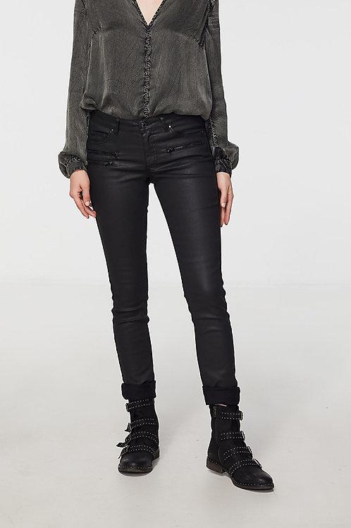 IKKS   Coated Zipper Slim Jeans