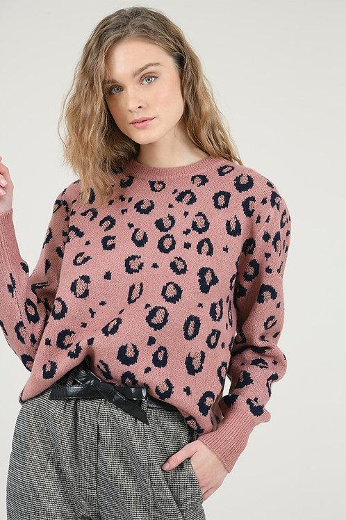 Molly Bracken   Leopard Lurex Sweater