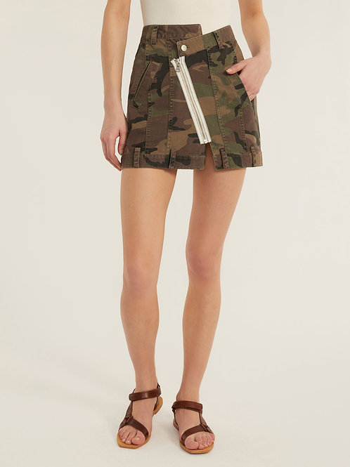 Marissa Webb | Eliza Canvas Zip Front Camo Skirt