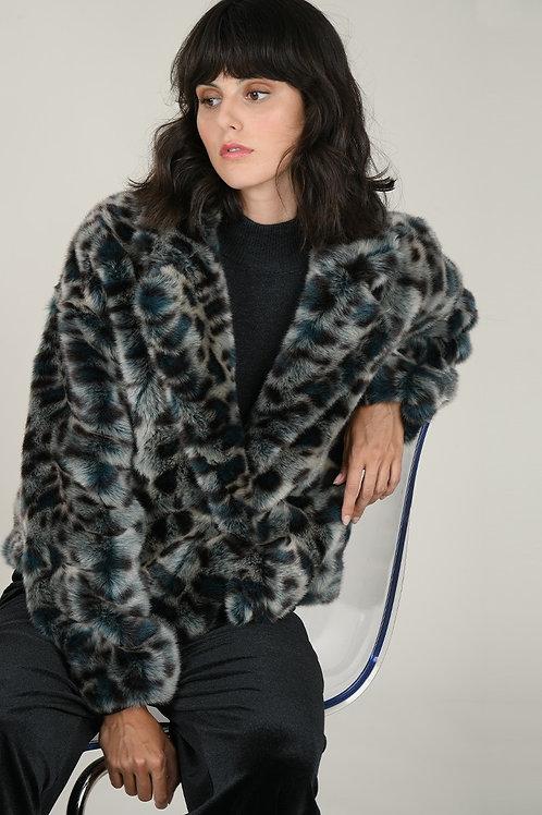Molly Bracken | Leopard Print Faux Fur Jacket