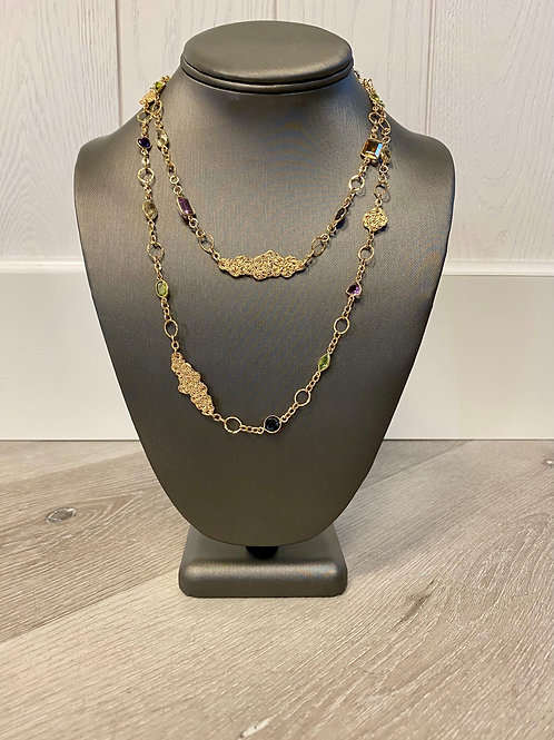 Vahe Twisted | Multi Gemstone Long Necklace