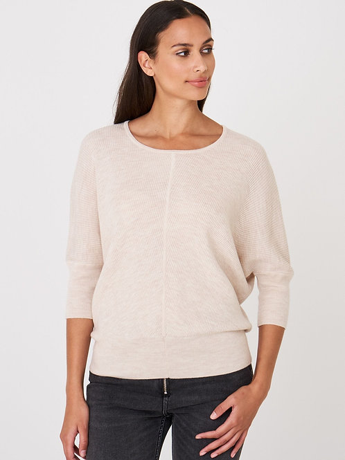 Repeat Cashmere | Ribbed Merino Wool Sweater